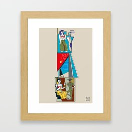 Edificio San Gabriel -Detail- Framed Art Print