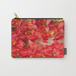 Vitaceae ivy wall abstract Carry-All Pouch