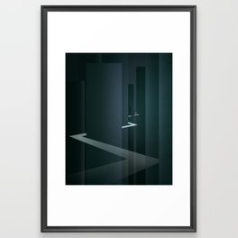 Smooth Minimal - Silver Surfer Framed Art Print
