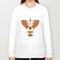 aang Long Sleeve T-shirts featuring Yip Yip by Ashley Hay