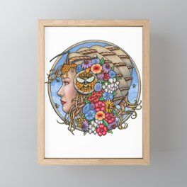 Beatrix Bee Queen by Bobbie Berendson W Framed Mini Art Print