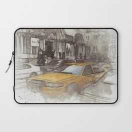 NYC Yellow Cabs Avenue - SKETCH Laptop Sleeve