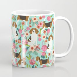 Beagle floral pattern dog breed gifts must have beagles florals pupper Coffee Mug