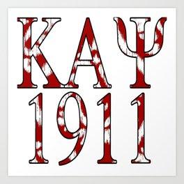 Kappa Alpha Psi 1911 Design Art Print