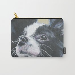 Papillon Dog art portrait from an original painting by L.A.Shepard Carry-All Pouch