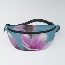 Blossoming peach tree, pink flowers Fanny Pack