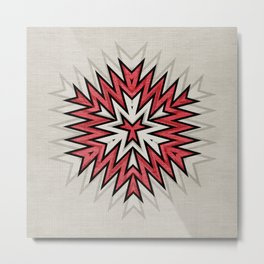 Abstract Geometric Pattern Metal Print