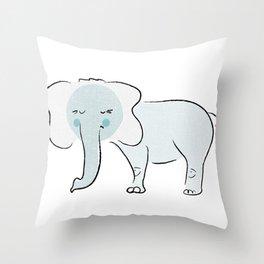 Sleepy Elephant Throw Pillow