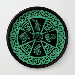 Celtic Nature Wall Clock