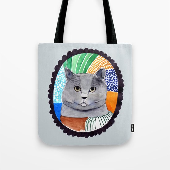 KITTY / GREY Tote Bag