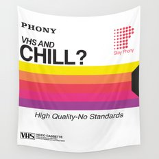VHS and Chill Wall Tapestry
