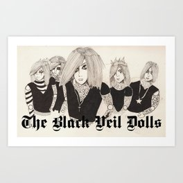 The Black Veil Dolls Art Print