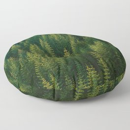 The Green Forest (Color) Floor Pillow