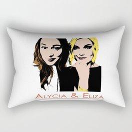 Alycia & Eliza Comic Rectangular Pillow