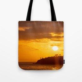 California Golden Sunset at Laguna Beach Tote Bag
