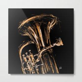 Yelow euphonium Metal Print