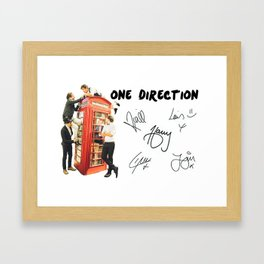 One Direction - Phone Booth Framed Art Print
