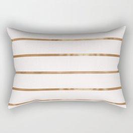 Elegant blush chic faux gold geometrical stripes Rectangular Pillow