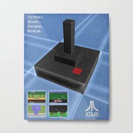 Atari game joystick nostalgia Metal Print