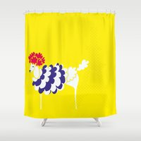 poodle Shower Curtains featuring French Poodle by MaJoBV