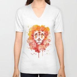 PRIDE (Water colour Lion) Unisex V-Neck