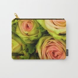 Green & Pink Bouquet Carry-All Pouch