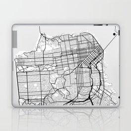 Scandinavian map of San Francisco Penninsula Laptop & iPad Skin