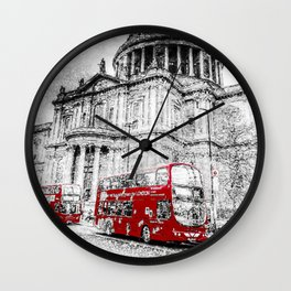 St Paul's Cathedral London Snow Wall Clock
