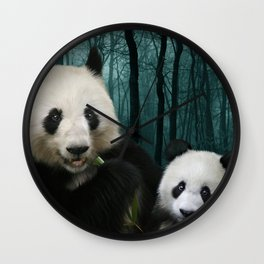 Giant Pandas Wall Clock