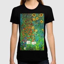 Gustav Klimt Garden with Sunflowers T-shirt