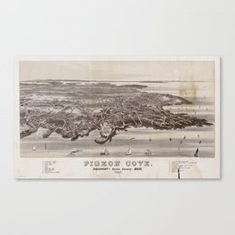 Vintage Map of Pigeon Cove Rockport MA (1886) Canvas Print