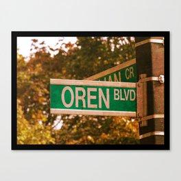 Oren Blvd Canvas Print