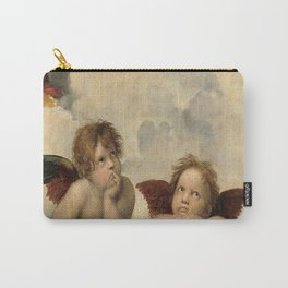 Raphael – Madonna Sistine – detail – two putti Carry-All Pouch