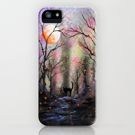 Moonlit forest iPhone Case