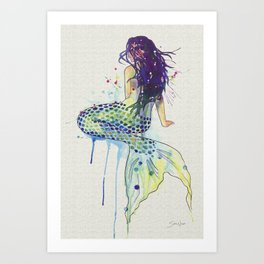 Mermaid - Natural Art Print