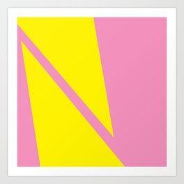 Pink Angles Art Print