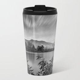 """""""Windy Clouds At The Lagoon"""" BW Travel Mug"""