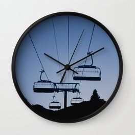 Mammoth Mountain Silhouette Wall Clock