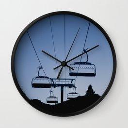 Mammoth Mountain Silhouette Wall Clock