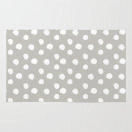 Brushy Dots - Gray Rug