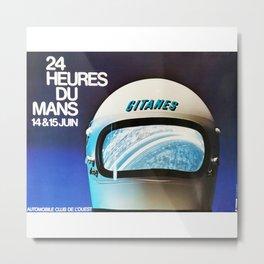 Le Mans 1975, vintage poster, 24hs Le Mans t-shirt Metal Print