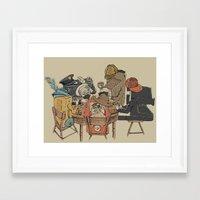 poker Framed Art Prints featuring Polaroid Poker by Romayne Robinson
