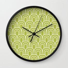 Rainbow Scallop Pattern Chartreuse Wall Clock