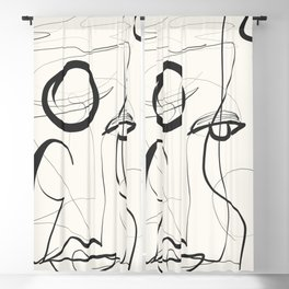 Abstract line art 37 Blackout Curtain