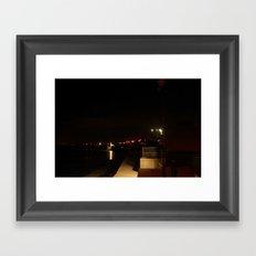Lights in the Distance Framed Art Print
