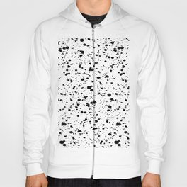 Paint Spatter Black and White Hoody