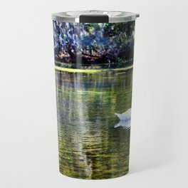 Swans At The Lake Travel Mug