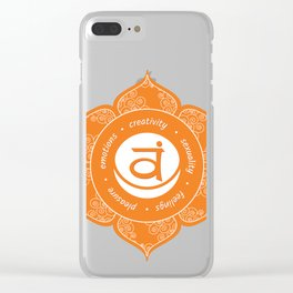 Sacral Chakra #50 Clear iPhone Case