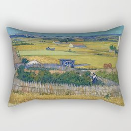 The Harvest by Vincent van Gogh Rectangular Pillow