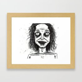 CRAZY DUDE Framed Art Print